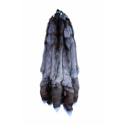 Лисица серебристо-черная крашеная голубая
