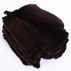 Бобр канадский стриженный крашеный коричневый