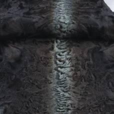 """Каракуль афганский крашеный """"Черный с зеленым хребтом"""""""