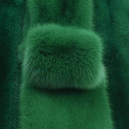 """Норка крашеная """"Зелень"""""""