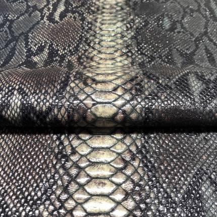 """Кожа с принтом """"Змея 16"""", тон коричневый"""