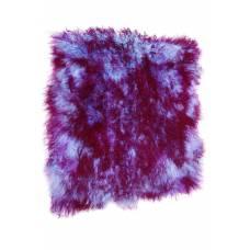 """Пластина ламы крашеной """"Голубая с фиолетовым топом"""""""